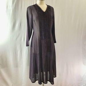 April Cornell rayon vintage dress